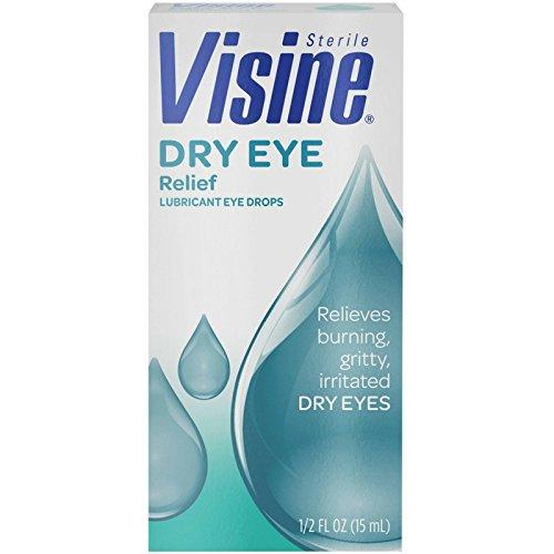 Visine Dry Eye Relief Eye Drops 0.50 oz (Pack of 3)