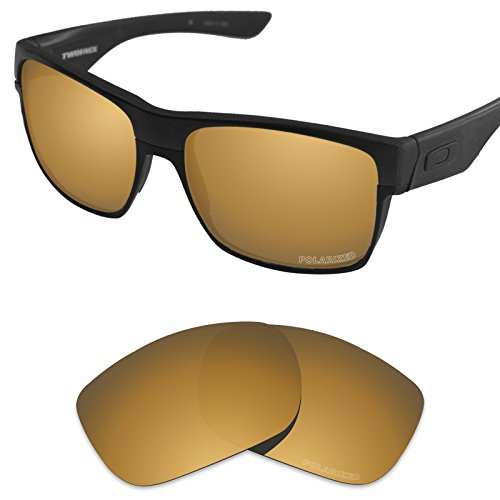 Bronze Polarized Accessories - Tintart Performance Replacement Lenses for Oakley TwoFace Sunglass Polarized Etched-Tungsten Gold