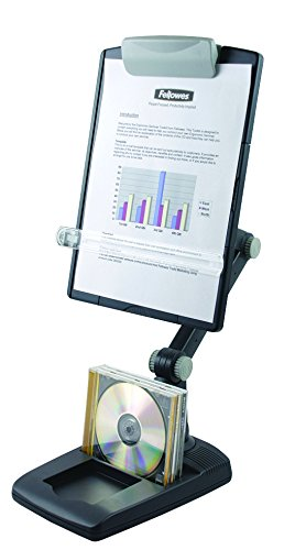 Fellowes Flex Arm Copyholder, Weighted Base - Copy Holder - Graphite