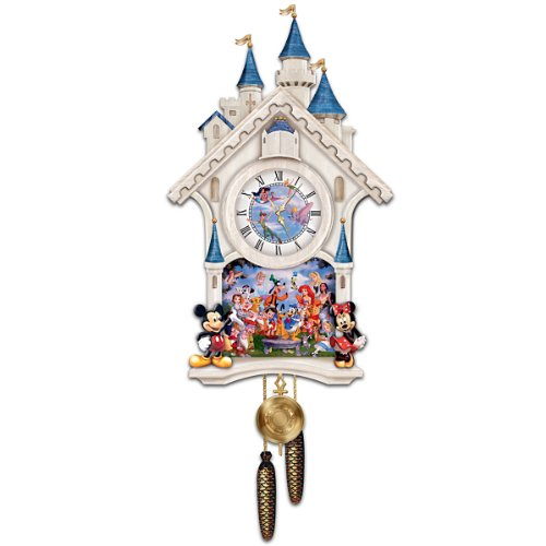 (Bradford Exchange Disney Character Cuckoo Clock: Happiest Of Times by The)