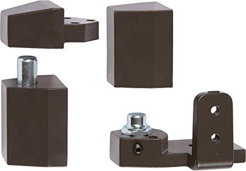 Offset Pivot Left Hand in Bronze Finish, Durable commercial & residential, door hardware, door handles, locks (Left Hand Door Hinge)