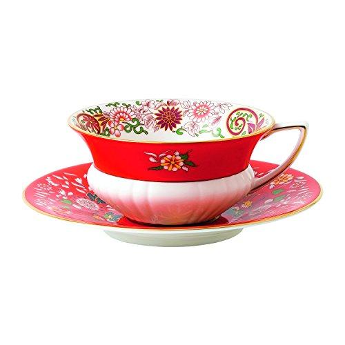 Wedgwood Wonderlust Teacup & Crimson Orient Saucer Set, Mult