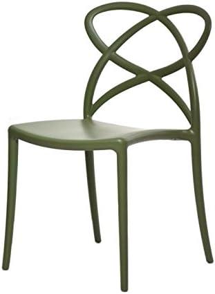 Fashion Commerce 04 FC909 Set di Sedie, Polipropilene, Verde, 46x49x81 cm, 4 sedie
