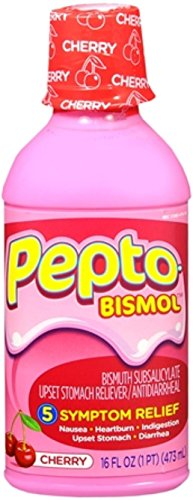 (Pepto-Bismol Pepto Bismol Liquid Cherry 16 oz (Pack of 2))