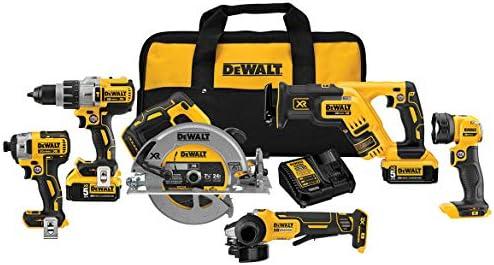 DEWALT 20V MAX Cordless Drill Combo Kit, 6-Tool DCK695P2