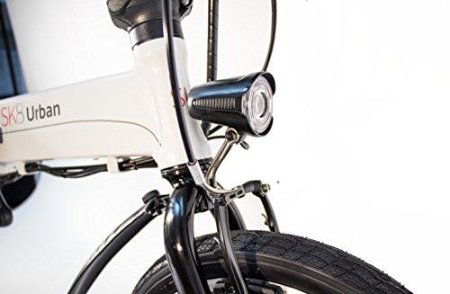 SK8 eBike Urban Beetle Bicicleta eléctrica plegable, Amarillo: Amazon.es: Deportes y aire libre