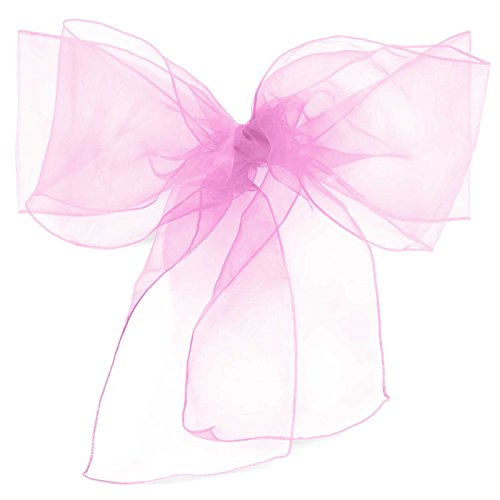 Lanns Linens 100 Elegant Organza Wedding/Party Chair Cover Sashes/Bows - Ribbon Tie Back Sash - Lavender