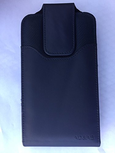 XXL SIZE Samsung Galaxy Note 8 Vertical Leather Belt Clip Holster Pouch Case ( Fits Samsung Galaxy Note 8 with OTTER BOX SYMMETRY / Defender / LIFEPROOF / Extended Battery or Thick Case On) -NAVY