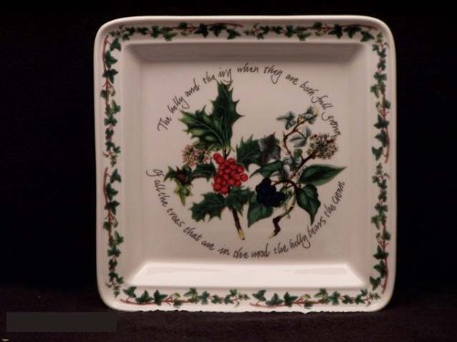 Portmeirion The Holly & The Ivy Square Salad Plate ()