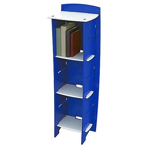 H Legare Blue Racer 6-Shelf Tool-Free Bookcase with 3 12