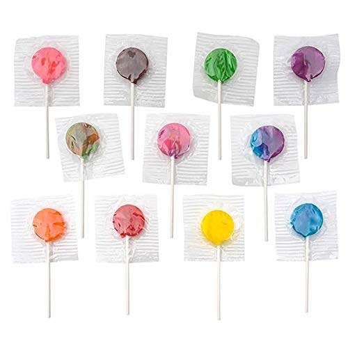 Assorted Colorful Lollipops - Pack of 140 Citrus Hard Candy Suckers for Party Favors, Cake Decorations, Novelty Supplies or Treats for Halloween, Christmas, Baby Showers (Old Fashioned Lollipops)