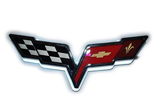 LED Illuminated White Rear Emblem Fits Corvette-2005-2013 C6 Z06 ZR1 Grandsport (Emblem Z06)