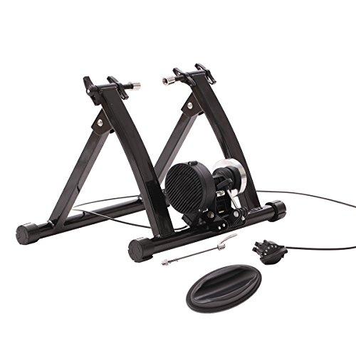 URSTAR Magnet Steel Bike Bicycle Indoor Exercise Trainer Stand with Flywheel in Black