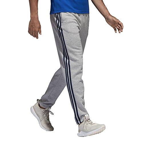 Details about Adidas Men Essential 3 Stripe Long Pants Training Winter Black Gray Pant B47211