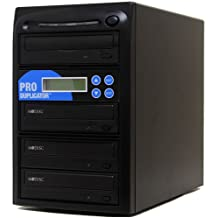 Produplicator 1 to 3 M-Disc (Permanent Data Back Up Disc) CD DVD Duplicator (with Nero Essentials Burning Software) - Standalone Duplication Tower Copier Replication Burner