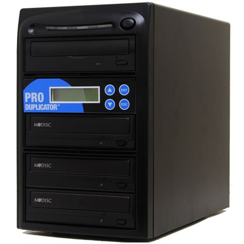 Produplicator 1 to 3 M-Disc (Permanent Data Back Up Disc) CD DVD Duplicator (with Nero Essentials Burning Software) - Standalone Duplication Tower Copier Replication Burner by Produplicator