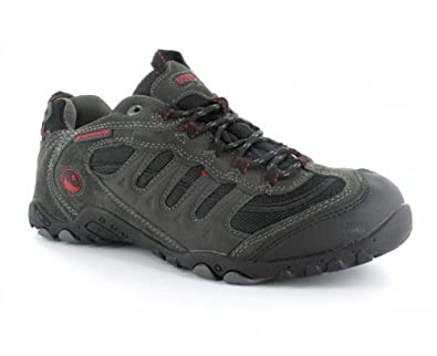 Hi-Tec Men's Penrith Wp Grey/Black/Red Walking Shoe P001866/051