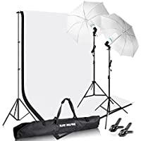 2x3M/6.5x10ft Photography Photo Video Studio Background Stand Support Kit with 1050W 5500K Umbrella Light Kit