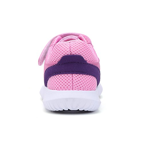 BTDREAM Boy and Girl's Breathable Fashion Sneakers Athletic Outdoor Sports Running Shoes Pink Size 26 by BTDREAM (Image #4)