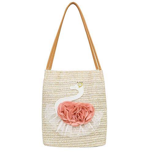 Women Straw Hobo Handbag Beach Bag Braided Summer Travel Shoulder Purse Woven Bag Household Storage Basket Shopping Handbag
