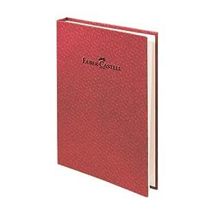 Faber-Castell 5075400752 Bambu Serisi A5 Gizli Spiralli Çizgili Not Defteri, Koyu Kırmızı