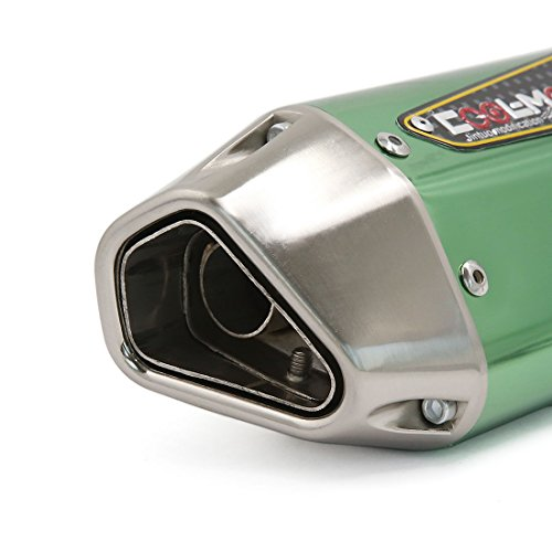 Uxcell® Grön Motorcykel Avgasljuddämpare Av Rostfritt Stål Ljuddämpare