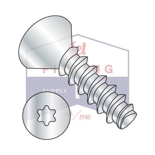 #4 x 5/16'' Plastite Style Thread Forming Screws / Six-Lobe (Torx) / Flat Head / Steel / Zinc (QUANTITY: 10,000 pcs)