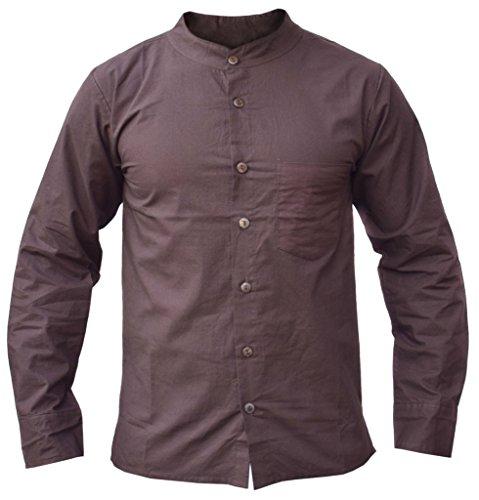 Brown Cotton Shirt - 5