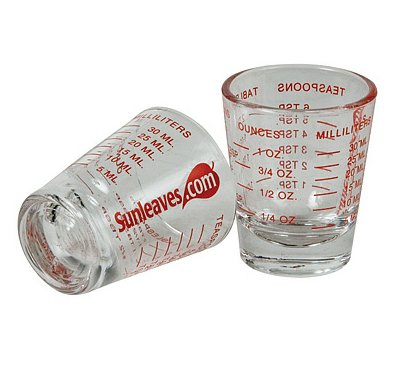 41MyG8WNq4L 1 X Mini Measure ® Mini Measuring Shot Glass Measures 1oz, 6 Tsp, 2 Tbs, 30ml