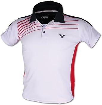Victor Uni Polo - Camiseta, tamaño L, Color Blanco/Rojo/Azul ...