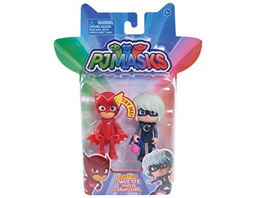 Just Play PJ Masks 2-Pack Light Up Figures Owlette vs. Luna Girl