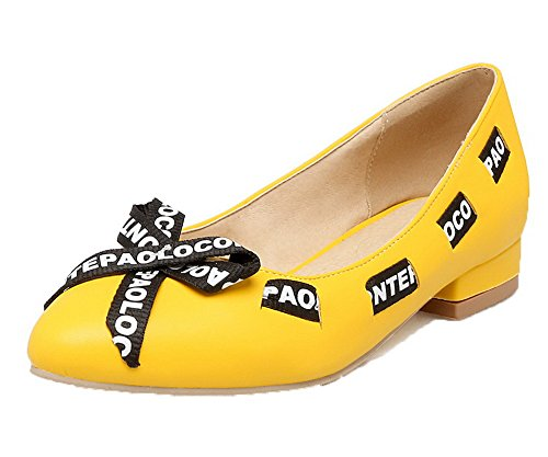 PU Pumps Form runde Damen Low On Heels farbige Odomolor Pull zF5qz