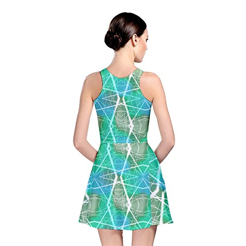 Mint Skater CowCow Dress Laser Beams Neon Womens ZTwBqSapA