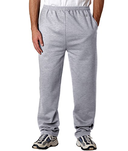 Champion Men's Open Bottom Eco Fleece Sweatpant, Oxford Gray, XX-Large