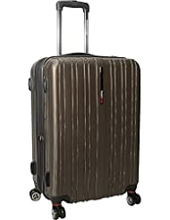 Traveler's Choice Tasmania Polycarbonate Expandable 8-Wheel 25 Spinner, Dark Brown
