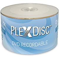 50-Pack PlexDisc 632-210 4.7GB 16X Inkjet Printable DVD-R DVD Disc Spindle (White)
