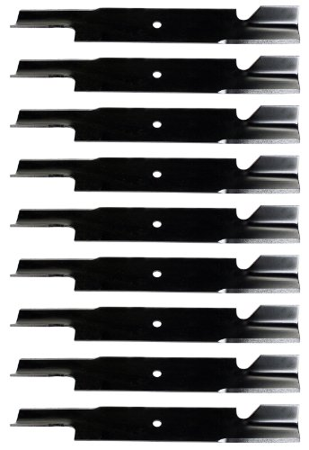 (USA Mower Blades U111113BP (9) Extra High-Lift for Scag A48111 481708 481712 48304 A48304 482879 Length 21in. Width 3in. Thickness .200in. Center Hole 5/8in. 61in. Deck)