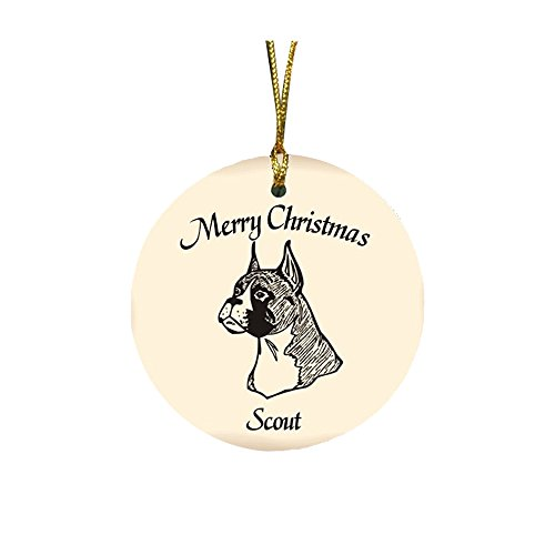 GiftsForYouNow Dog Breed Personalized Christmas Ornament, Boxer