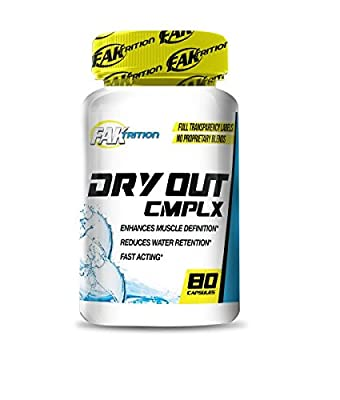 Faktrition Dry Out Complex 80 Capsules Pro Strength Diuretic