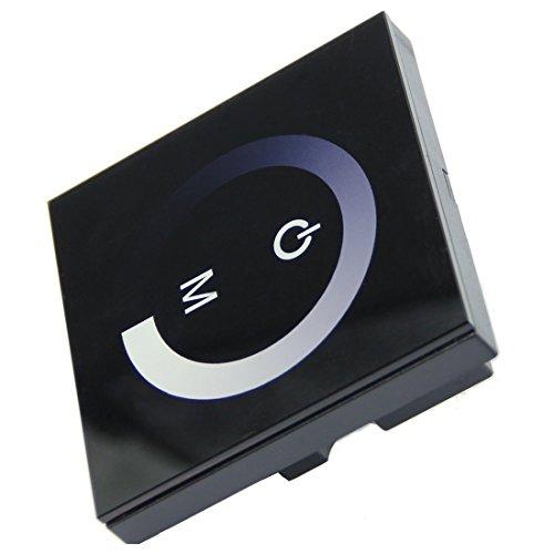 rgbzone dc12v 24v 8a wall mounted touch panel brightness adjustable dimmer for single color led. Black Bedroom Furniture Sets. Home Design Ideas
