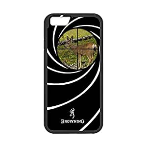 Browning Deer Camo Pattern for iPhone 6 Case Cover 025268 Rubber Sides Shockproof Protection with Laser Technology Printing Matte Result