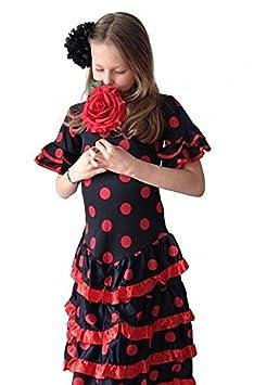La Señorita Rose / Flores rojo vestido Flamenco: Amazon.es: Juguetes y juegos