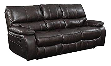 Motion Sofa in Two Tone Dark Brown