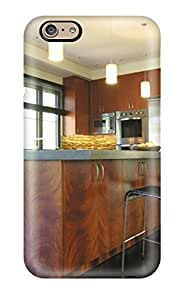 Premium [tZQDoRB4180Ikrqz]neutral Contemporary Kitchen With Pendant Lights Amp Large Island Case For Iphone 6- Eco-friendly Packaging(3D PC Soft Case)