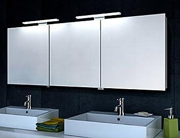 Spiegelschrank 160 Cm.Xxl Spiegelschrank Mit Led Beleuchtung 160 X 60 Cm Aluminium