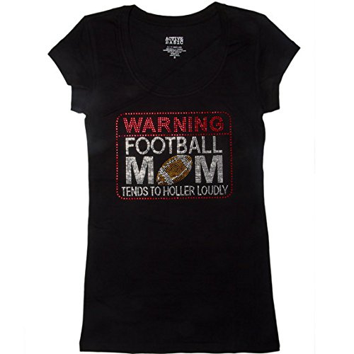 928d7102 Football Mom Shirts - Warning Football Mom Tends to Holler Loudly - Sports  Shirts - Football