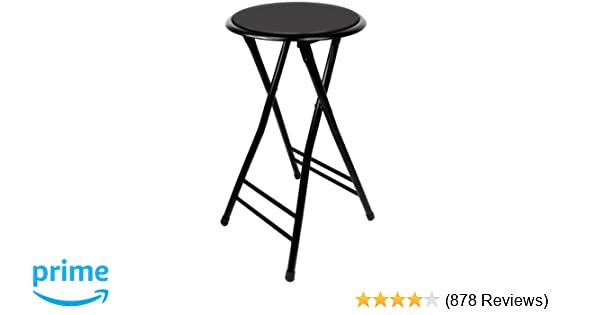 Amazon Com Trademark Home Folding Stool Heavy Duty 24 Inch