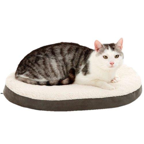 orthobed Antracita Perros almohada Salud cama Mini - perro & gato cama - Oval/Marrón - 55 x 40 x 7 cm - Tamaño XS: Amazon.es: Productos para mascotas