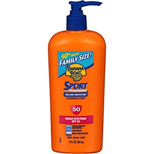 Banana Boat Sunscreen Sport Family Size Broad Spectrum Sun Care Sunscreen Lotion - SPF 50, 12 ounce