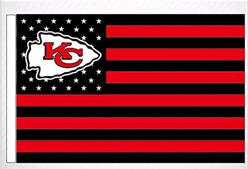 NFL Kansas City Chiefs Stars and Stripes Flag Banner - 3X5 F